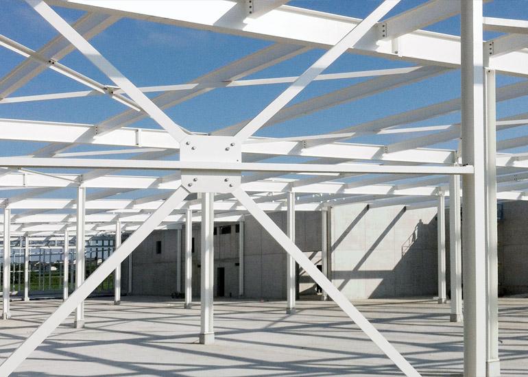 Stahlkonstruktion Coop Fachmarkt Arbon