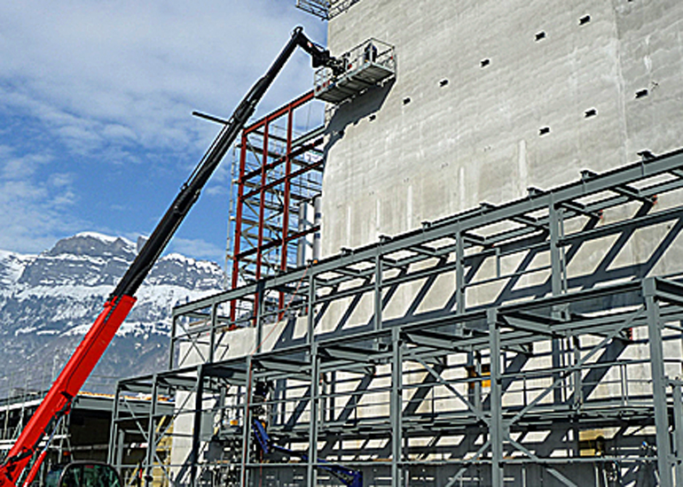 Spezialkonstruktion aus Stahl Mühle