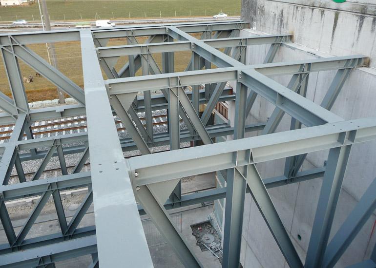 Konstruktion aus Stahl Spezialausführung