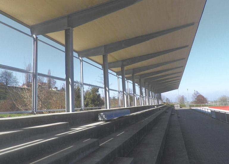 Tribünendach Sportanlage Kellen Goldach